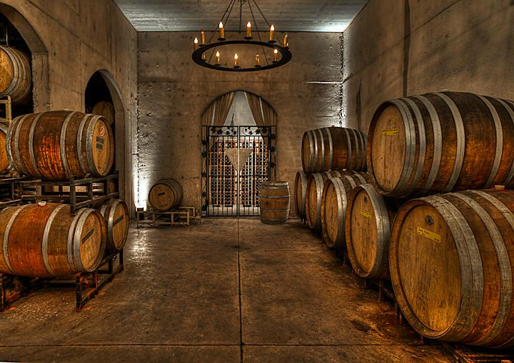 Winery Barrel Cellar
